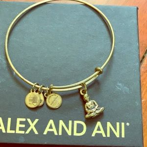 ALEX AND ANI Buddha Adjustable Wire Bangle